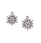 Snowflake Earrings, Everyday Silver Yuletide Jewelry