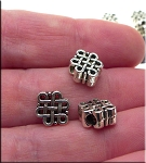 Silver Pewter Celtic Beads with 3mm Hole 9x11x8mm 10 per bag