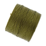 GOLDEN OLIVE S-Lon Beading Cord Superlon Beading Thread