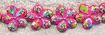 Acrylic Beads, Fuchsia-Pink Flower Beads 20mm