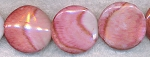 Acrylic Beads, Pink Marble Swirl 30mm Coin