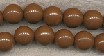 Brown 16mm Round Acrylic Beads