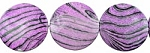 ZSOLDOUT / Acrylic Beads, Violet Striped Animal Print 40mm Coin
