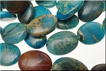 25x18mm Blue African Opal Jasper Oval Beads