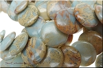 20mm Coin African Opal Jasper Beads Offset