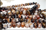 14mm Rondelle Carnelian Fire Agate Beads