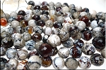 16mm Round Fire Agate Beads