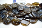 Agate Beads, African Oval 40x30mm Wavy