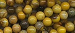14mm Round Yellow Agate Beads