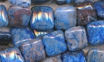 14mm Blue Crazy Lace Agate Pillow Square Beads