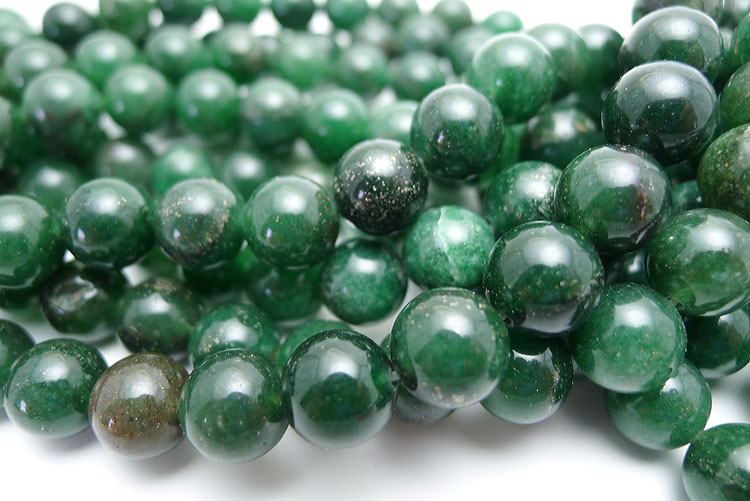 Agate Beads, Green 10mm Round