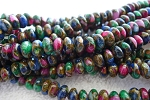 8mm Multicolor Agate Rondelle Beads