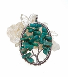 Tree of Life Pendant, Russian Amazonite
