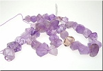 ZSOLD / Amethyst and Ametrine Beads, Faceted Nuggets Natural