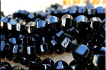 10mm Round Black Onyx Melon Beads