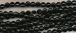 8mm Black Onyx Coin Beads