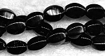 10x8mm Black Onyx Rice Melon Beads