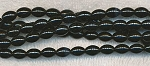 9x6mm Black Onyx Rice Beads