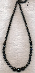 ZSOLDOUT - Black Onyx Beads, Natural Onyx Graduated 6mm to 14mm Faceted Round