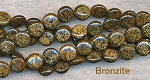 ZSOLDOUT / Bronzite Beads, Coin 10mm