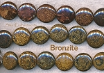 16mm Bronzite Coin Beads