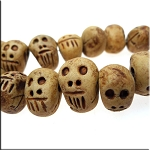 Skull Beads, Ceramic Tribal