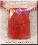 40x30mm Cherry Quartz Pendant Bead