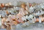 Moonstone Beads, Multi Moonstone Chips