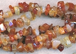 Carnelian Chips and Nugget Beads