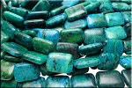 Chrysocolla Beads, Rectangle 20x15mm Pillow