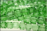 Crystal Beads, 8mm Cube PERIDOT Green (10)