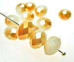 Crystal Beads, 8mm Rondelle MERLIN GOLD KISSED (12)