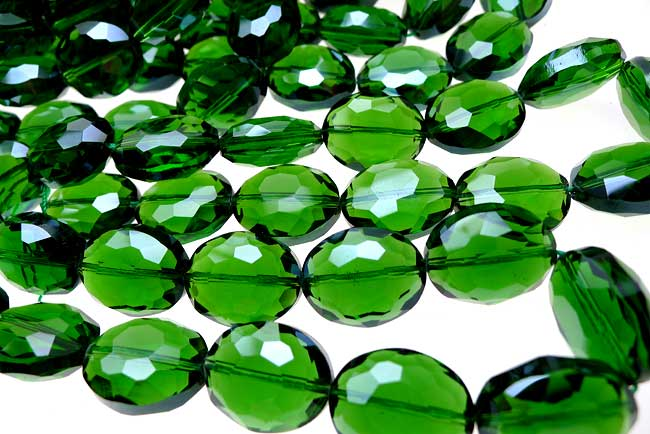 20x16x10mm Oval Crystal Beads EMERALD