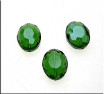 20x16x10mm Oval Crystal Bead EMERALD