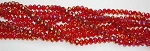 6mm Rondelle Crystal Beads RED AB
