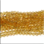 Crystal Beads, 6mm Bicone VIOLET Blush Yellow TOPAZ