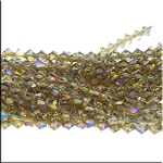 Crystal Beads, 6mm Bicone VIOLET Blush Light Brown TOPAZ
