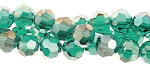 Crystal Beads, 4mm Round EMERALD AB Green