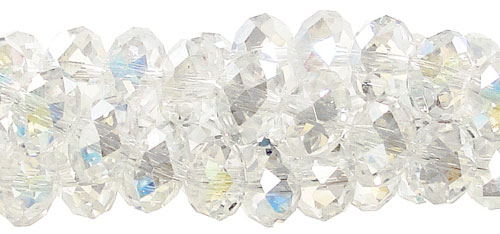 4mm Rondelle Crystal Beads CRYSTAL AB