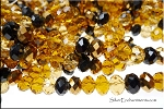 8mm Rondelle Crystal Beads, Designer Mix TOPAZ
