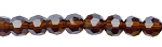 6mm Round Crystal Beads BROWN TOPAZ