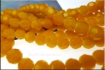 Crystal Beads, 10mm Round ORANGE