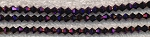 3mm Bicone METALLIC PURPLE Crystal Beads