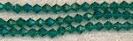 6mm Bicone Crystal Beads AQUA
