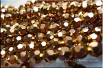 Crystal Beads, 8mm Round COPPER