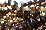 Crystal Beads, 10mm Round BRONZE-COPPER