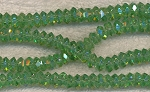 Crystal Beads, 7mm Spacers PERIDOT AB