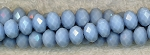 Periwinkle Crystal Rondelle Beads, 8mm
