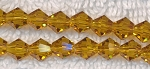 Crystal Beads, 6mm Bicone CITRINE TOPAZ