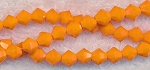 Crystal Beads, 6mm Bicone PUMPKIN ORANGE